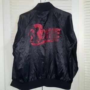 David Bowie satin bomber jacket sz Large